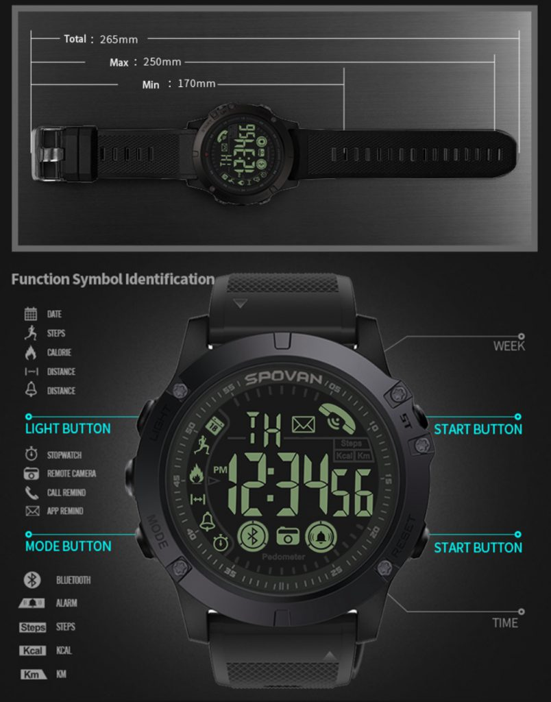 Reseña del Tact Watch - ¿un reloj táctico asequible? 3